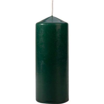 Bispol pillar unscented solid candle 150/58 mm - Bottle Green
