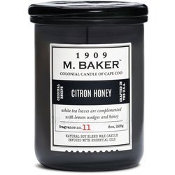 Colonial Candle M. Baker soy scented candle apothecary jar 8 oz 226 g - Citron Honey