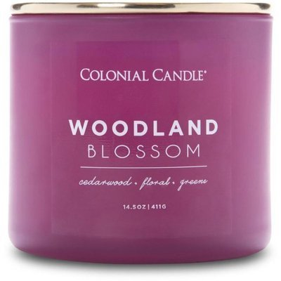 Colonial Candle Pop of Color large soy scented candle 3 wicks 14.5 oz 411 g - Woodland Blossom