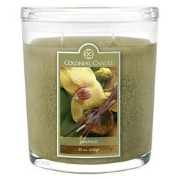Colonial Candle large scented oval jar candle 22 oz 623 g - Patchouli