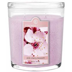 Colonial Candle large scented oval jar candle 22 oz 623 g - Pink Cherry Blossom