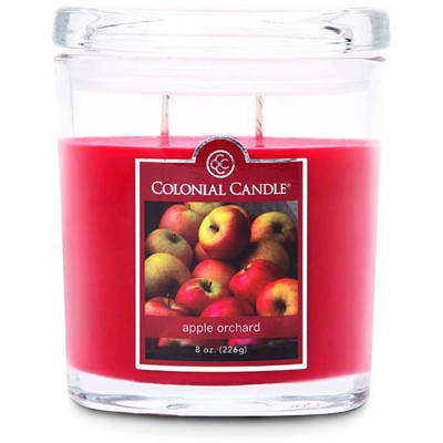 Colonial Candle medium scented oval jar candle 8 oz 226 g - Apple Orchard