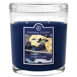 Colonial Candle medium scented oval jar candle 8 oz 226 g - Blueberry Scone