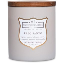 Colonial Candle wooden wick soy scented candle grey 15 oz 425 g - Palo Santo