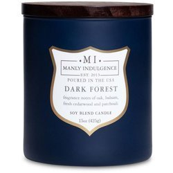 Colonial Candle wooden wick soy scented candle navy 15 oz 425 g - Dark Forest