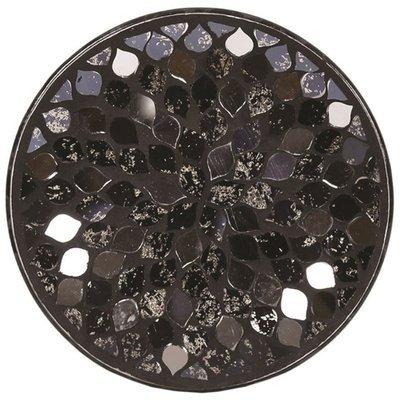 Woodbridge candle plate 16 cm Black Mirror Teardrop Mosaic