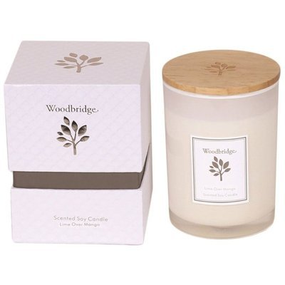 Woodbridge medium scented soy candle 270 g in a box - Lime Over Mango