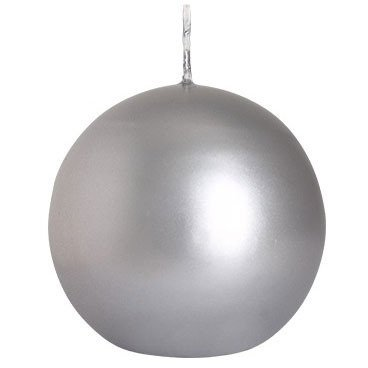 Bispol świeca bezzapachowa bryłowa kula 80 mm - Biała