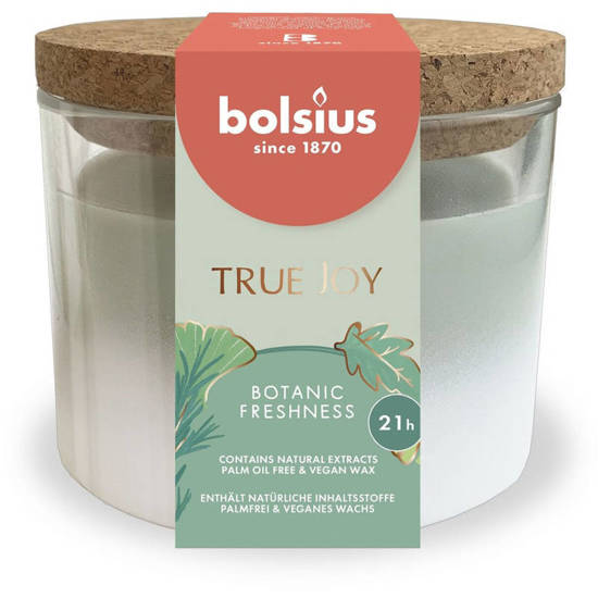 Bolsius medium scented candle in glass 66/83 mm True Joy - Botanic Freshness