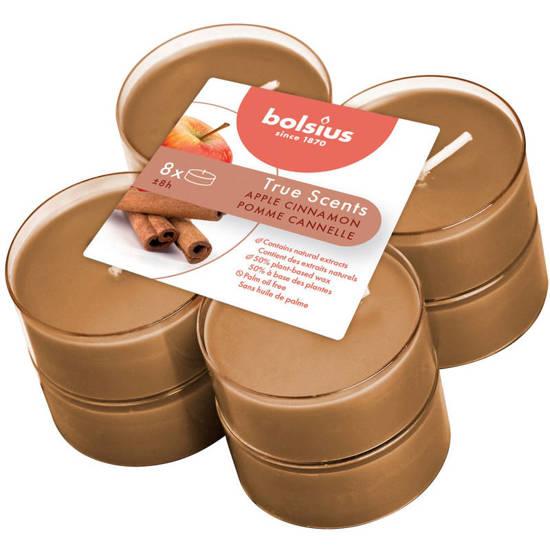 Bolsius scented maxi tealights 6 cm 8 pcs True Scents - Apple & Cinnamon