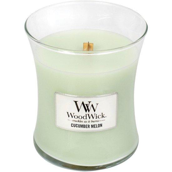 WoodWick Core Medium świeca zapachowa sojowa w szkle ~ 100 h - Cucumber Melon