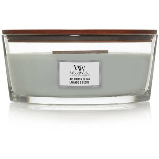 Woodwick Core Heartwick Ellipse Large Scented Candle with Wooden Wick 16 oz 453.6 g - Lavender & Cedar