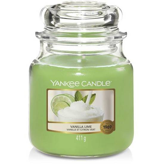 Yankee Candle medium scented candle in a glass jar 14,5 oz 411 g - Vanilla Lime
