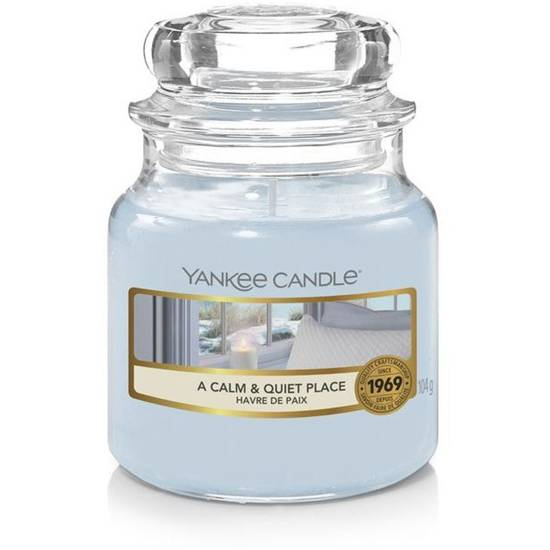 Yankee Candle small scented candle in a glass jar 3.7 oz 104 g - A Calm & Quiet Place