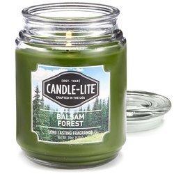 Candle-lite Everyday duża świeca zapachowa w szklanym słoju 145/100 mm 510 g ~ 110 h - Balsam Forest