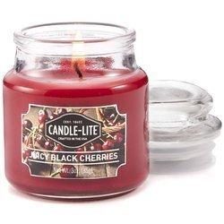 Candle-lite Everyday mała świeca zapachowa w szkle z pokrywką 95/60 mm 85 g - Juicy Black Cherries