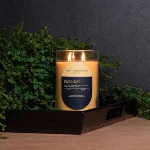 Colonial Candle Contemporary męska sojowa świeca zapachowa w szkle 22 oz 623 g - Energize