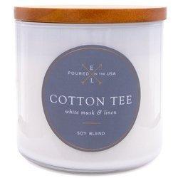 Colonial Candle Luxe sojowa świeca zapachowa w szkle drewniany knot 368 g - Cotton Tee