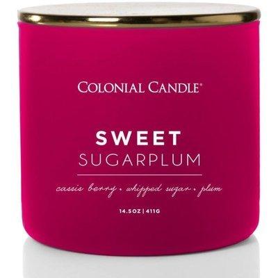 Colonial Candle Pop Of Color sojowa świeca zapachowa w szkle 3 knoty 14.5 oz 411 g - Sweet Sugarplum