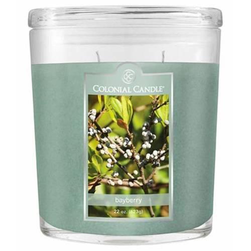 Colonial Candle duża świeca zapachowa w owalnym szkle 22 oz 623 g - Bayberry