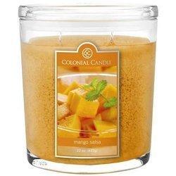 Colonial Candle duża świeca zapachowa w owalnym szkle 22 oz 623 g - Mango Salsa