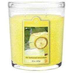 Colonial Candle duża świeca zapachowa w owalnym szkle 22 oz 623 g - Old Fashioned Lemonade