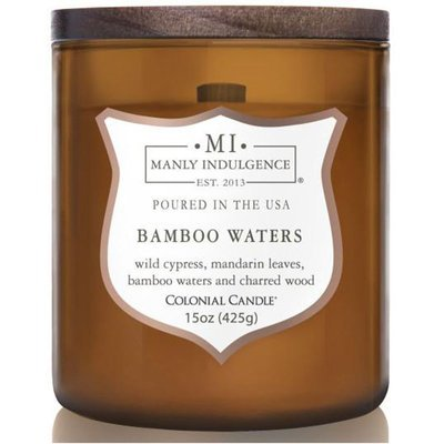 Colonial Candle sojowa świeca zapachowa w szkle drewniany knot 15 oz 425 g - Bamboo Waters