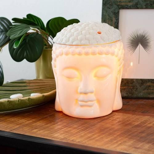 Elektryczny duży ceramiczny kominek do wosków zapachowych - Buddha