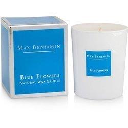 Max Benjamin Kolekcja Klasyczna świeca zapachowa w szkle handmade - Blue Flowers