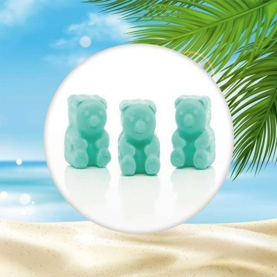 Ted & Friends sojowe woski zapachowe misie 50 g - Sky, Sun & Sand