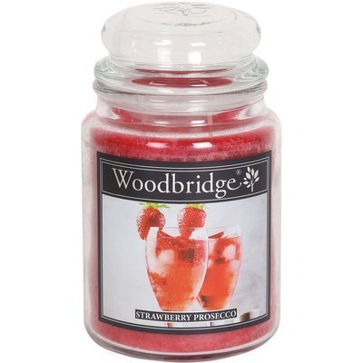 Woodbridge świeca zapachowa w słoju duża 2 knoty 565 g - Strawberry Prosecco