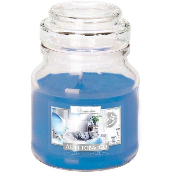 Bispol świeca zapachowa w szklanym słoiku 120 g - Anti Tobacco