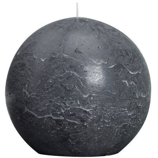 Bolsius Rustic Ball Candle świeca kula rustykalna 145 mm - Antracytowy