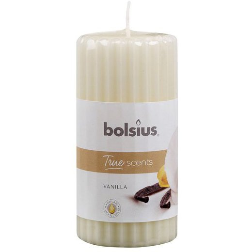 Bolsius świeca zapachowa bryłowa pieńkowa słupek 120/58 mm True Scents - Wanilia Vanilla