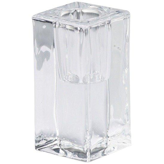 Bolsius świecznik szklany do szpic i świec stołowych 80/40 mm - Przezroczysty