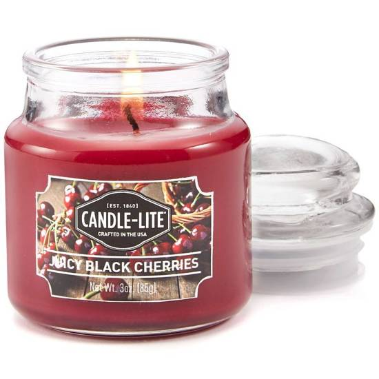 Candle-lite Everyday Collection Jar Glass Candle With Lid 3 oz świeca zapachowa w szkle z pokrywką 95/60 mm 85 g ~ 27 h - Juicy Black Cherries