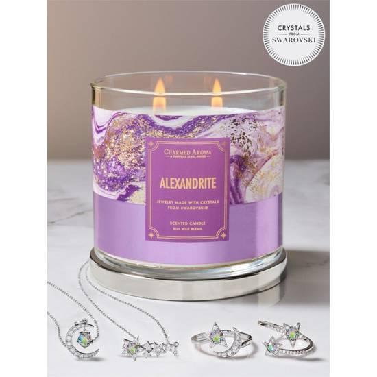 Charmed Aroma sojowa świeca zapachowa z biżuterią 12 oz 340 g Naszyjnik - Alexandrite