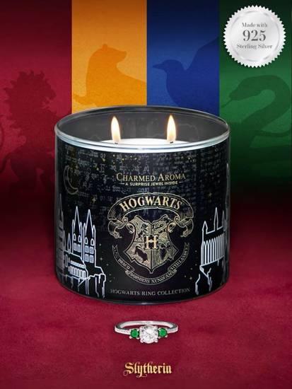 Charmed Aroma świeca zapachowa z biżuterią Harry Potter Hogwart Slytherin Pierścionek