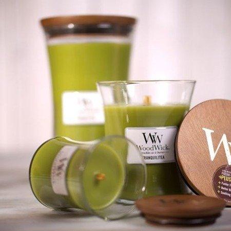 WoodWick Core Small Candle świeca zapachowa sojowa w szkle 40 h - Bergamot & Basil