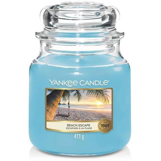 Yankee Candle średnia świeca zapachowa w szklanym słoju 14,5 oz 411 g - Beach Escape