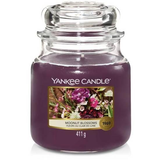 Yankee Candle średnia świeca zapachowa w szklanym słoju 14,5 oz 411 g - Moonlit Blossoms