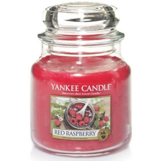 Yankee Candle średnia świeca zapachowa w szklanym słoju 14,5 oz 411 g - Red Raspberry