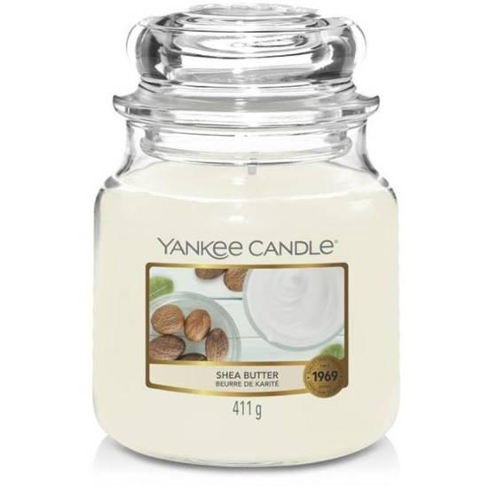 Yankee Candle średnia świeca zapachowa w szklanym słoju 14,5 oz 411 g - Shea Butter